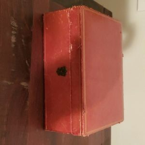 Vintage Red Jewelry Storage Lined Box Case